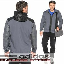 $160 Adidas Performance Men Stronger Full Zip Hoody Run ClimaLite™ Jacket Top XL