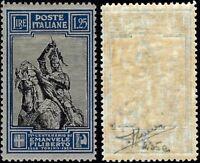Regno - 1928 - EMANUELE FILIBERTO Lire 1,25 nuovo MH - Sassone n.235/I - Sorani