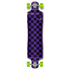 Punked Checker Graphic Lowrider Drop down through Longboard Complete skateboards