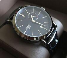 Roamer Vanguard Men's Swiss Watch (Blue Dial & Black/Blue Leather Strap)
