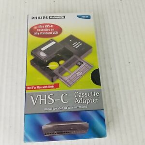 Philips Magnavox VHS-C Cassette Adapter (PM61300) New Sealed Box