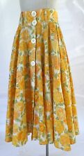 Summer Floral Print Full Skirt and Belt SZ 44 / M Vintage 90s Made in Italy