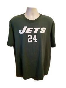 Reebok NY Jets Revis 24 Adult Green 2XL TShirt