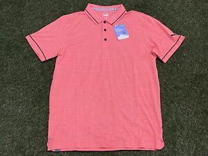 Puma Cloudspun Monarch Golf Polo Shirt Georgia Peach Navy SZ M ( 530991 11 )