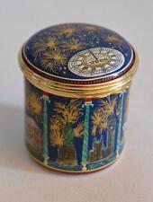 Halcyon Days English Enamels 21st Century World Celebration Trinket Box