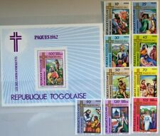 TOGO 1982 1595-03 A Block 188 1132-38 C469-C470a Easter Ostern Religion 10Gebote
