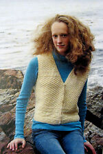 SALE - SAVE  30%  ISLANDERS' VEST by LIBBY MILLS for GREEN MOUNTAIN SPINNERY