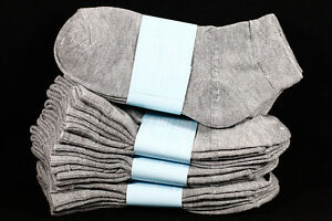 6-8 Kids Boys Girls Ankle Cut Comfort Light Gray Socks Cotton Spandex Junior