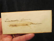 Paul Laurence Dunbar Autographed Cut African-American Poet, Playwright, Novelist