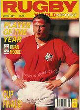 Rugby World MAGAZINE JUIN 1990-Bath gagner cup, Neath équipe de l'année de la tour du pays de Galles