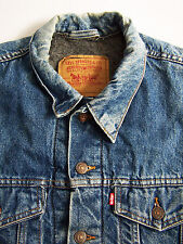 Levi's 70506-0316 Denim Jacket Mens 42 Medium Large Blanket Lined Vtg LJKTk156 #