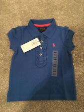 RALPH LAUREN GIRLS BLUE POLO SHIRT Size 2T  YEARS **L@@K**BNWT