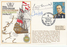 RN2c 300th Anniversary of Battle of Sole Bay - HMS Warspite.double Signed