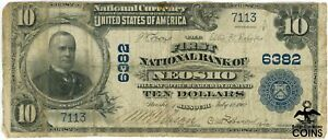 1902 United States $10 First National Bank Neosho MO Blue Seal National Currency