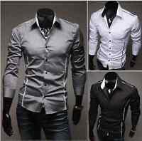 TREND Herren kurzarm Shirt 3 Farbe XS-L Slim Hemd T-Shirt Polo Style Hemd NEU 19