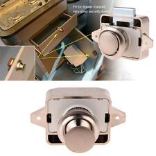 Push Lock Button Catch Locks Cupboard Door Knob Motorhome RV Cabinet Knob CA\