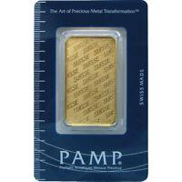 1 oz PAMP Gold Suisse Bar .9999 Fine Sealed In Assay