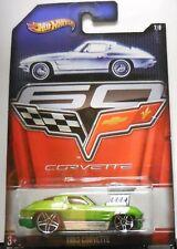 2012 Hot Wheels Corvette 1/8 Walmart Exclusive 1963 Corvette Green Htf