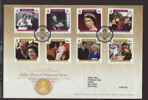Isle of Man 2006 FDC - Eighty Years of Duty and Service - with 8 stamps
