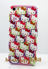 for iphone 5 5s cute hello kitty hot pink purple white face and bow +scren film/