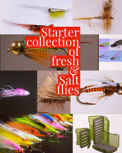 45 Premium Fresh/Salt water, 2 Fly Collections Boxed