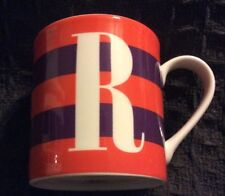 Kate Spade monogram R initial coffee mug cup Wick ford Red Letter Day