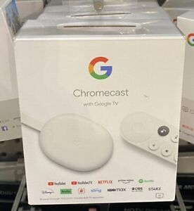 Google Chromecast with Google TV 2020 - Streaming Entertainment in 4K HDR - Snow