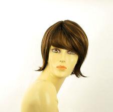 short wig woman smooth chocolate copper wick clear ref: VALERIA 627c PERUK