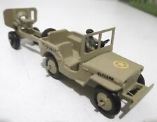DINKY TOYS MILITARY JEEP 80b & ARTILLERY GUN