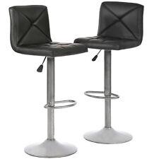 2 PU Leather Modern Adjustable Swivel Barstools Hydraulic Chair Bar Stools BT10