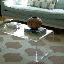 PLEXYCAM Tavolino trasparente in plexiglass da salotto 75x33 h:40cm Spess 10mm