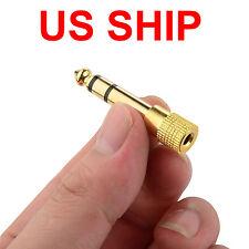 "SALE 6.5mm 1/4""Male plug to 3.5mm 1/8""Female Jack Stereo Headphone Audio Adapter"