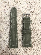 Steinhart Leather Vintage Green Canvas 22mm Straps for Tudor