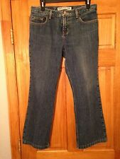 Womens Express Precision Fit Low Rise Flare Jeans Size 9/10S Actual 30x26