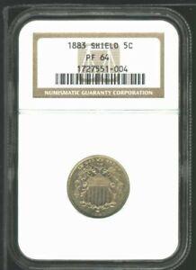 USA 1883 Proof Shield Nickel NGC PR-64