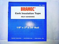 "Bramec, 1006, Cork Insulation Tape,1/8"" x 2"" x 30' Roll"