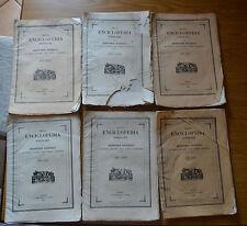 LOTTO 6 PEZZI NUOVA ENCICLOPEDIA POPOLARE DIZIONARIO POMBA TORINO 1842