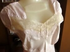 VTG sz 34 30's 40's Bias Cut Rayon Embroidered Starlet Slip Nightgown NWOT