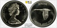 1967 CANADA SILVER DOLLAR PCGS PL66 DEEP CHOICE UNC BU PROOF LIKE TRUE VIEW