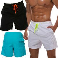 Men Swimming Board Shorts Swim Shorts Trunks Swimwear Beach Summer Trousers S-3X