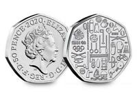 2020 BUNC  Team GB 50p  Coin  Olympic 2020 50p in stock