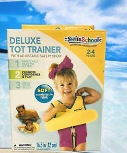 SwimSchool Deluxe Tot Trainer Age 2-4 Level 2 Fabric w/ Safety Strap~Yellow