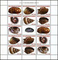 Surinam 2011 Muscheln Shells Schelpen Meerestiere 2447-2453 Kleinbogen MNH