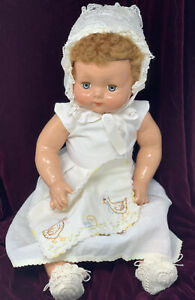 """Vintage Effanbee Composition Sweetie Pie Baby Doll 20"""" And Complete Outfit!"""