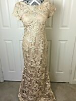 JS Collections Soutache Embroidered Long Evening Sheath Prom Debutante Gown Sz 6