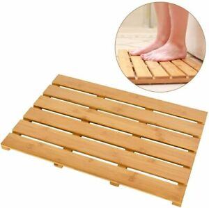 Bath Mat for Luxury Shower - Non-Slip Bamboo Sturdy Water Proof Bathroom Carpet