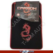Carbon Dragon Red/Black Carpet Car Floor Mats Nissan Patrol 4WD
