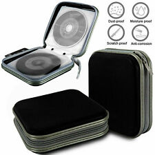 40 Disc CD DVD Case Organizer Holder Storage Carry Bag Hard Wallet Album Black