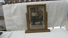 """Vintage Swinging Picture Frame on Stand / Art Deco / Wooden / 8"""" by 11"""" / Nice"""