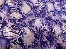 "Hawaiian Print Luau Floral Poly Cotton Tribal Fabric 45"" Hawaii (2 Yards)"
